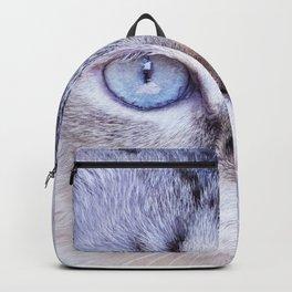 kitten blue yes Backpack