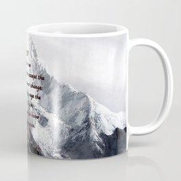 Serenity Prayer With Panoramic View Of Everest Mountain Coffee Mug