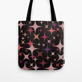 Shimmering Purple, Red, Pink and White Stars Tote Bag