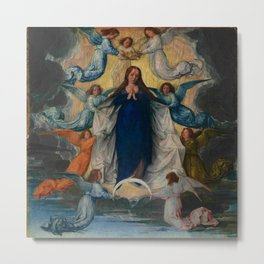 Michel Sittow – the assumption of the virgin Metal Print