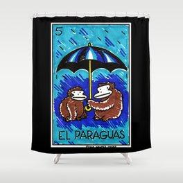 Loteria Ape #5: El Paraguas Shower Curtain