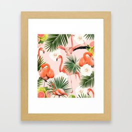 Flamingo Guava #society6 #decor #buyart Framed Art Print