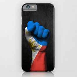 Filipino Flag on a Raised Clenched Fist iPhone Case