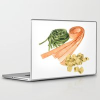 pasta Laptop & iPad Skins featuring Fresh Pasta by Helen Krayenhoff