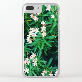 Flowers of Time Clear iPhone Case