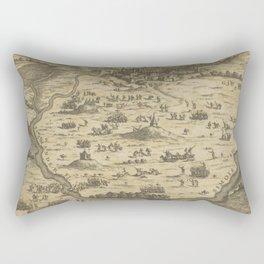 Vintage Trojan War Battlefield Map (1716) Rectangular Pillow