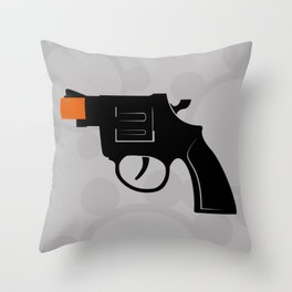 Cap Gun Throw Pillow