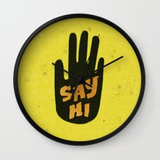 Say Hi. Wall Clock