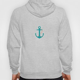 AFE Nautical Teal Ship Anchor Hoody