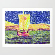 Sail Away Abstract Daydream Art Print