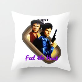 Chest and Brock- Feel The Heat Throw Pillow