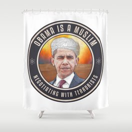 Obama Negotiating With Terrorists Shower Curtain