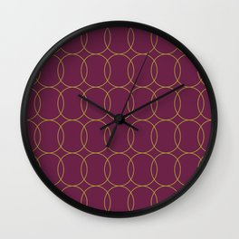 Fly Home Collection-  Circle Pattern Deep Red Violet  Wall Clock