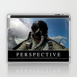 Perspective: Inspirational Quote and Motivational Poster Laptop & iPad Skin