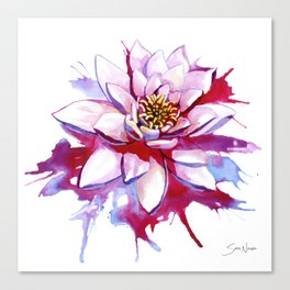 Bleeding Lotus Canvas Print