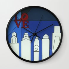 blue LOVE shine Wall Clock
