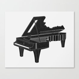 Music Is The Key B Canvas Print