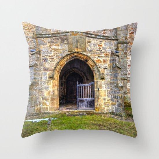 Holy Trinity Church, Wensley Throw Pillow