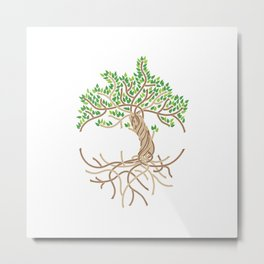 Rope Tree of Life. Rope Dojo 2017 white background Metal Print