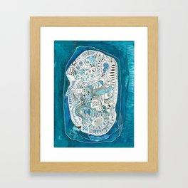 Life Map Framed Art Print