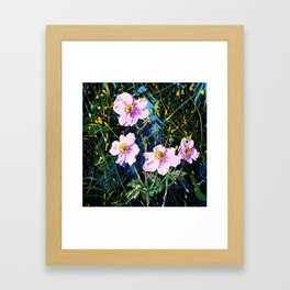 Flowers In My Father's Yard Remixed Framed Art Print