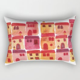 Tuscany Watercolor Rectangular Pillow