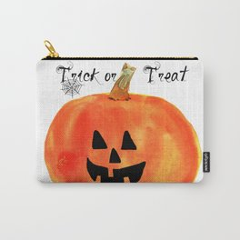 Trick or Treat Jack-O-Lantern, Halloween Pumpkin Carry-All Pouch