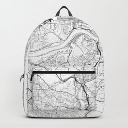 Cincinnati Map White Backpack