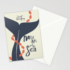 the Old Man and The Sea - Hemingway Book Cover Illustration Stationery Cards
