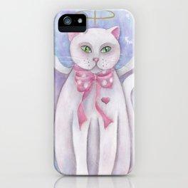 The Angel Cat iPhone Case