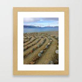 Lands end San Francisco golden gate Framed Art Print