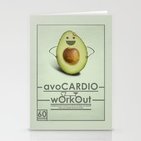 workout Stationery Cards featuring avoCARDIO workout by JosephMills