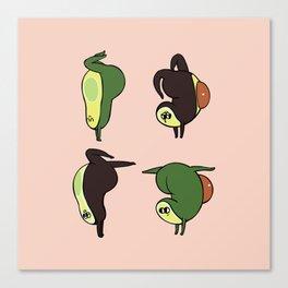 Handstand Avocado Canvas Print
