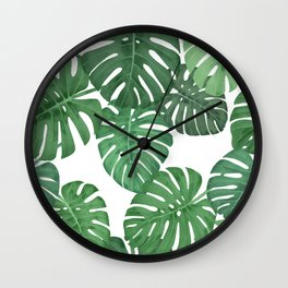 MONSTERA JUNGLE, by Frank-Joseph Wall Clock
