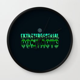 Extraterrestrial contacts Wall Clock
