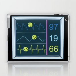 Tennis Heartbeat Injury Hospital Heart Rate Outfit Clothes EKG Pulse Line Gift Laptop & iPad Skin