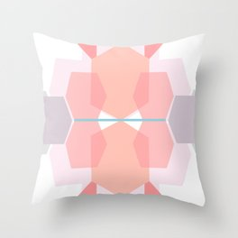 Coral Body sculpt hexagons Throw Pillow