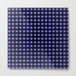 White stars on blue/black Metal Print