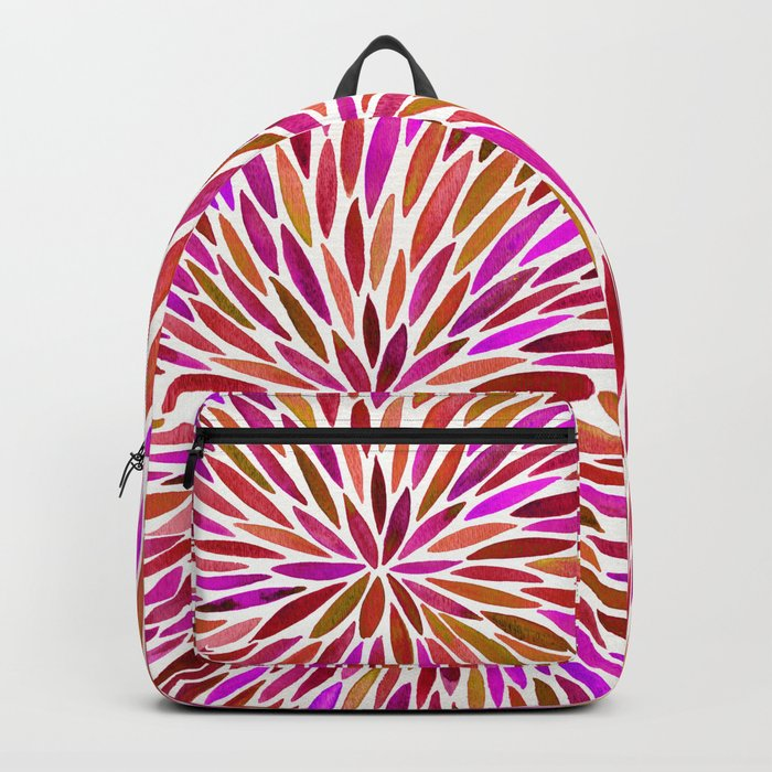 Pink Watercolor Burst Backpack