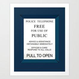 Doctor Who (Tardis Door) Police Box Art Print