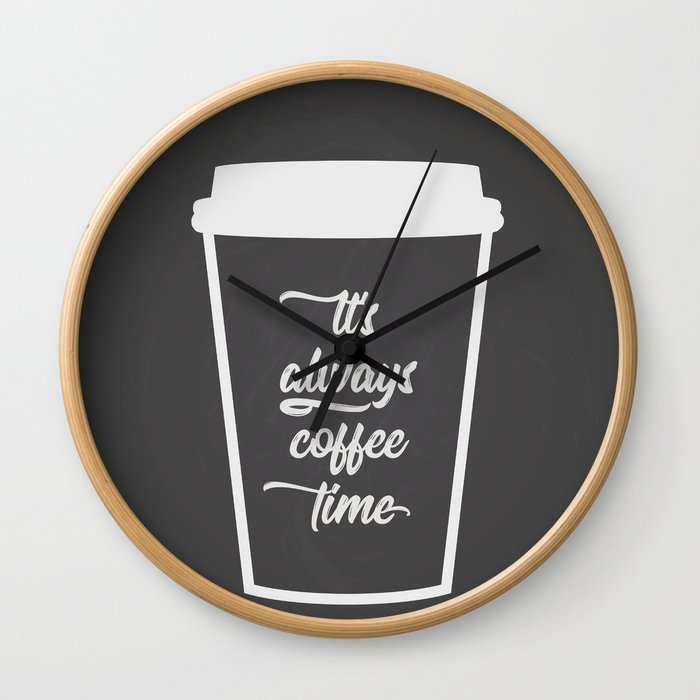 The Coffee Time I Wall Clock