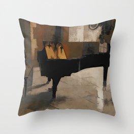 Grand Piano Artwork Throw Pillow