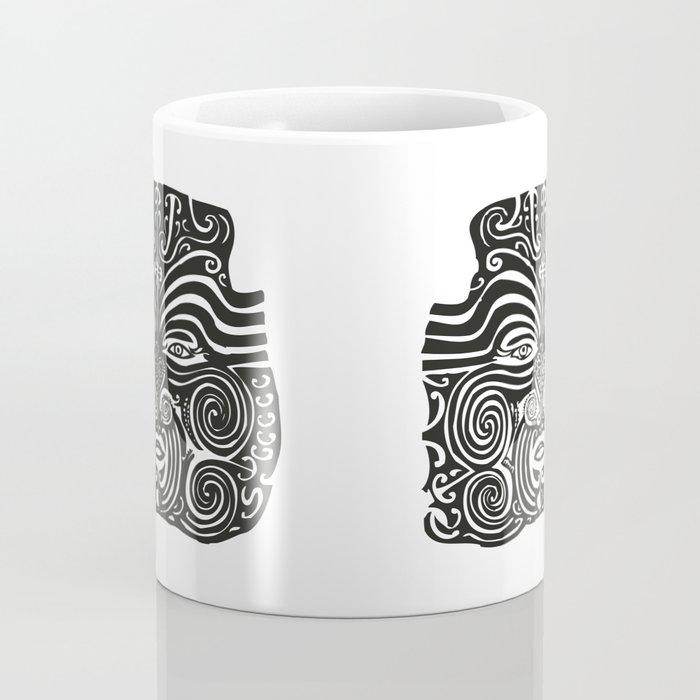 Maori Moko | Tribal Tattoo | New Zealand | Black and White | Coffee Mug