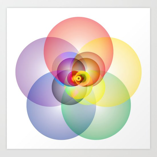 Colored Circles Art Print