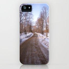 Menominee Lake Road iPhone Case