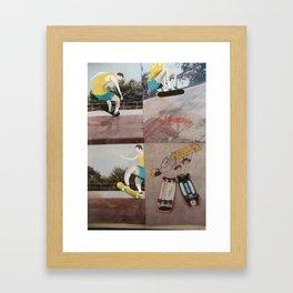 Retro Skater dude Framed Art Print