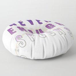 Never Enough Spoons - Spoonie Art Floor Pillow