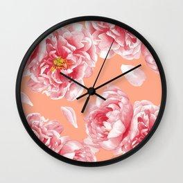 Peonies n.1 Wall Clock