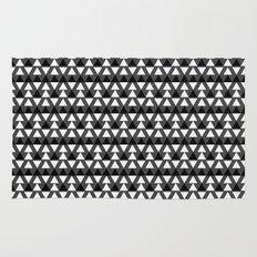 Black & White Triangles Rug