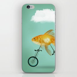 2 wheeled goldfish iPhone Skin